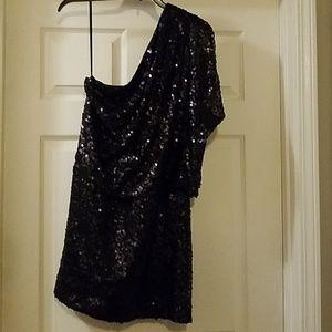 Jessica Simpson One Shoulder Sequin Dress